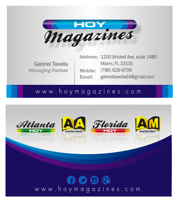Hoy magazines business cards reheart Gallery